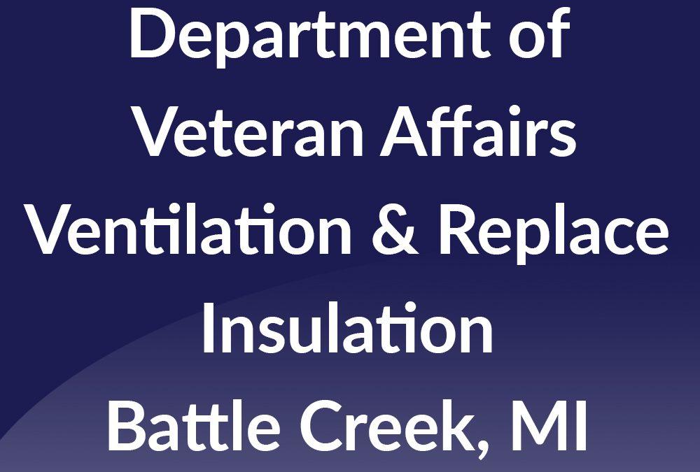 Battle Creek – VA Ventilation Repair