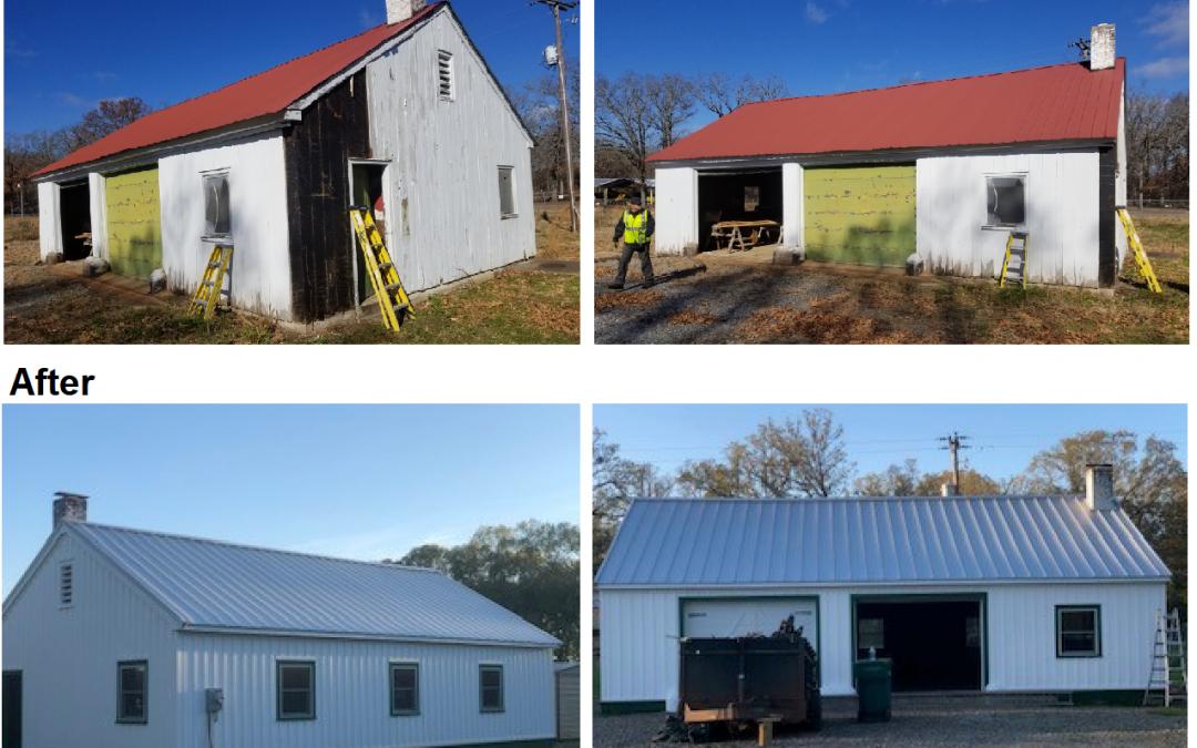 White River Wildlife Refuge Carpentry Building Rehab